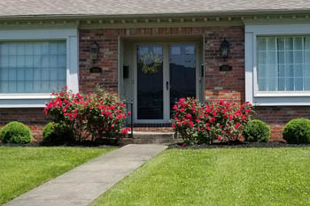 Lexington home with landscaping service by Allen's Lawn Service.