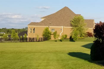 Lawn mowed and maintained by Allen's Lawn Service.