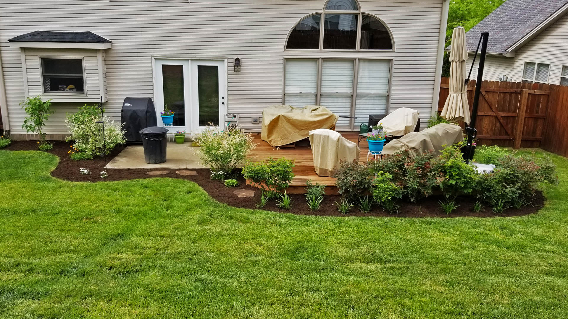 Landscaping project by Allen's Lawn Service in Lexington, KY.