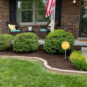 New landscaping installation by Allen's Lawn Service in Lexington, KY.